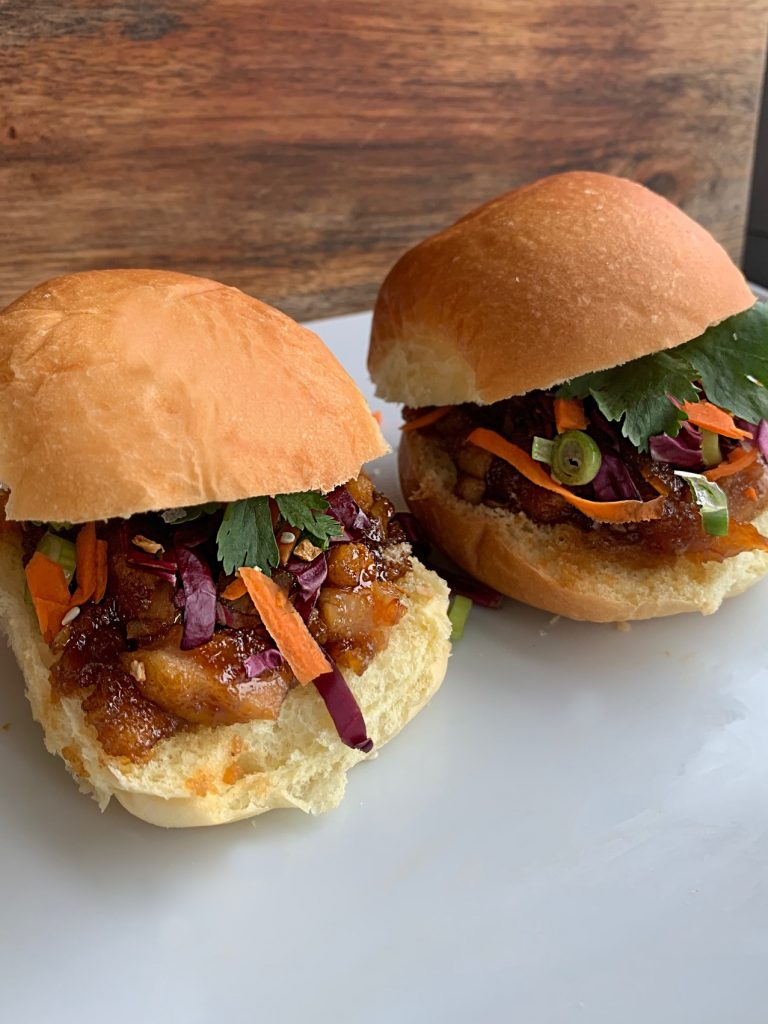 Asian Orange Glazed Chicken Sliders